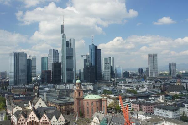 Франкфурт, вид на деловой центр