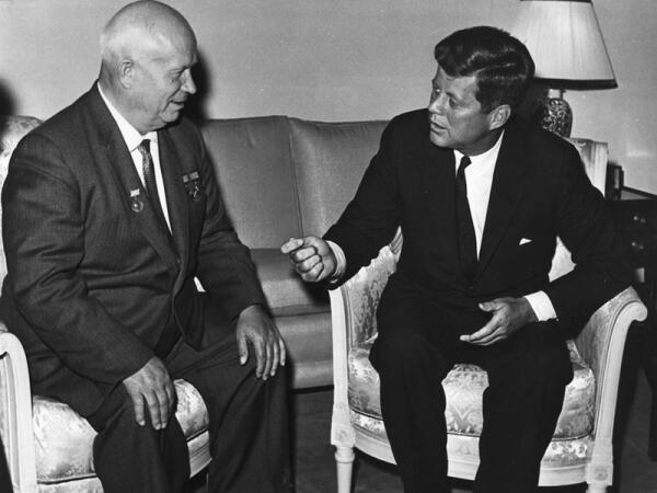 Хрущев и Кеннеди, 1961 г.