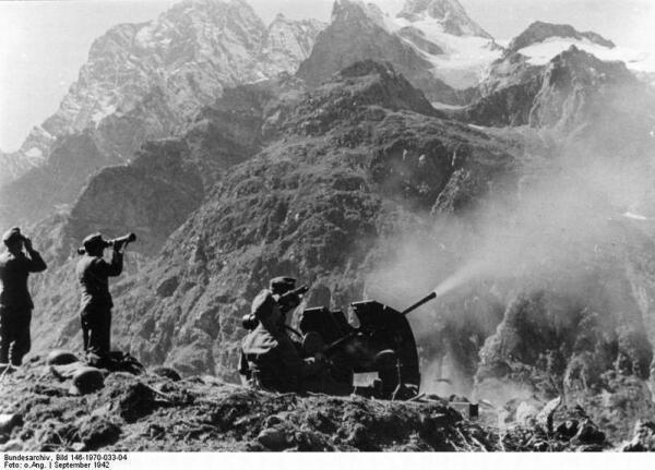 Немецкие солдаты на Кавказе