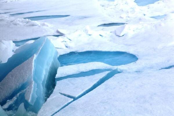 Вот так выглядит многолетний лед