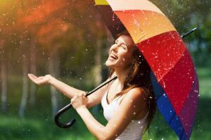 Плохая погода - прекрасный повод для раскрытия вашего любимого зонта!