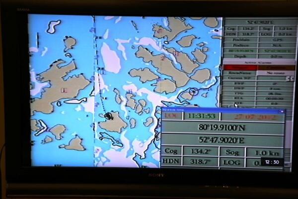 Вот так они выглядели на карте на экране монитора