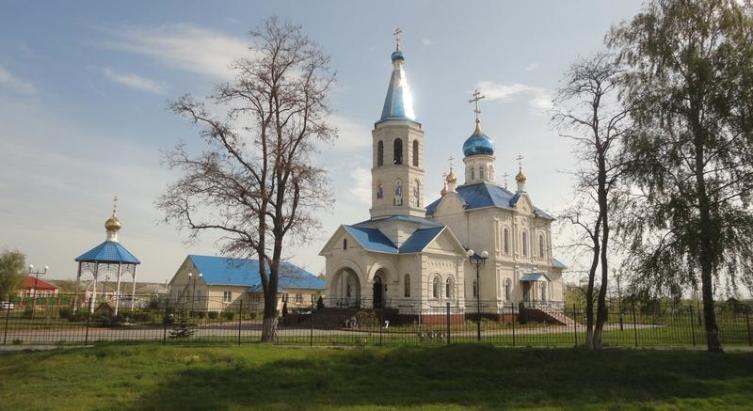 Общий вид храмового комплекса в с. Городище