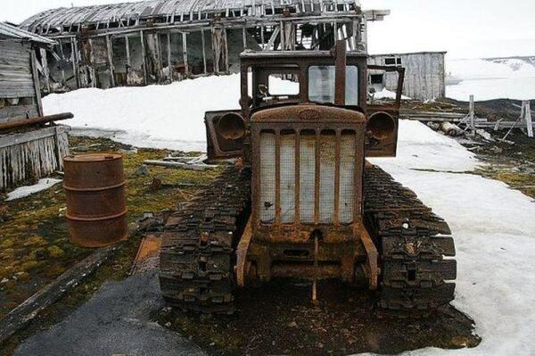Трактор на воле