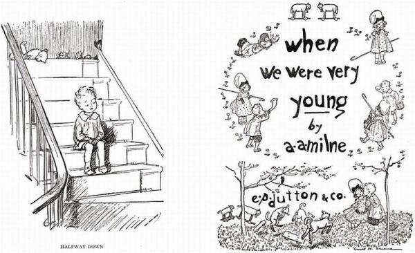 Иллюстрации Э. Шепарда к книге А. Милна