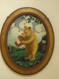 Единственный цветной портрет Винни маслом, нарисованный Э. Шепардом.