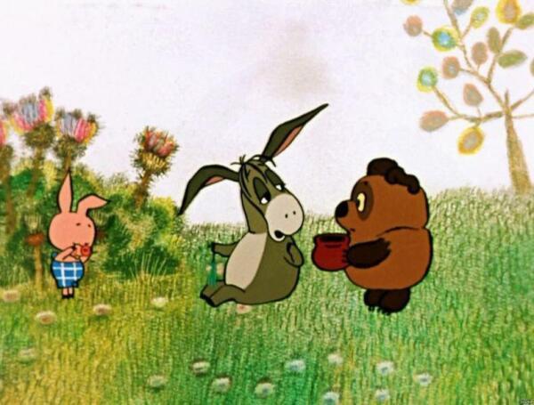 Кадр из советского мультфильма про Винни Пуха.