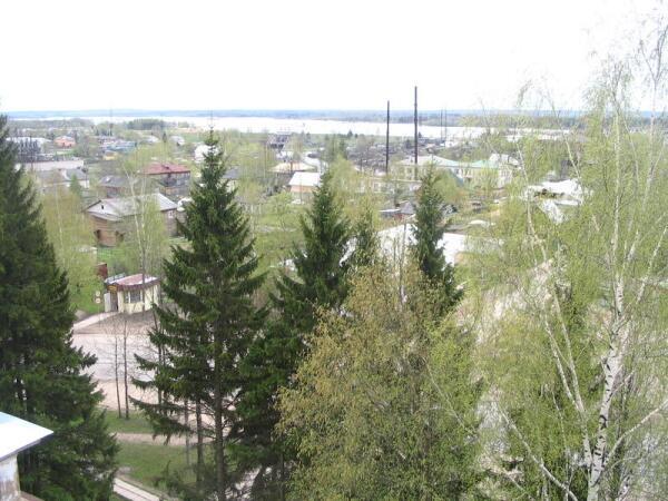 Вытегра. Вид с колокольни собора Сретения Господня