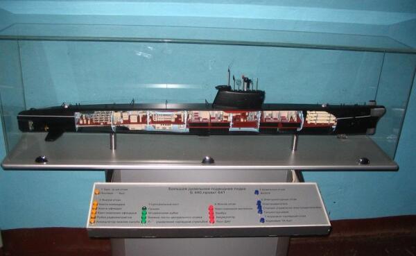 Подводная лодка Б-440 (проект 641) в разрезе. Схема отсеков ПЛ