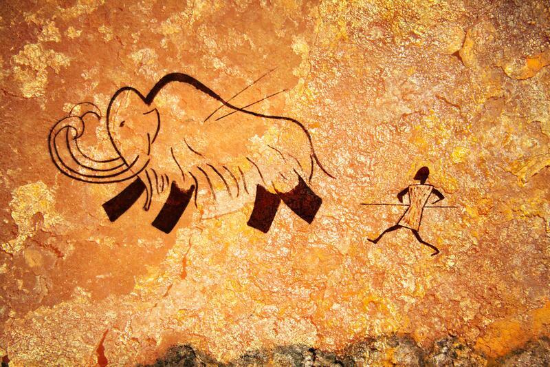 пещерная наскальная живопись: