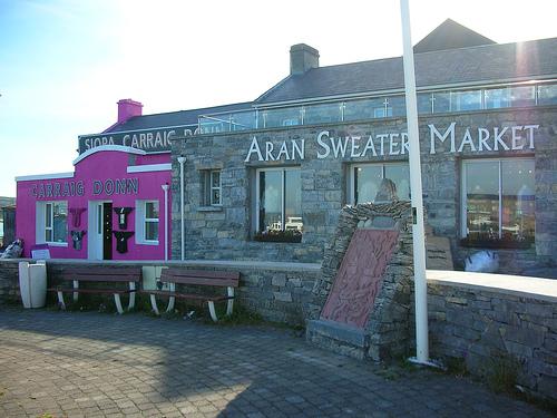 ...аранским узором) на...  Музей аранского свитера, Ирландия.
