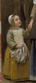 Питер де Хох, Дворик дома в Дельфте, фрагмент «Платье девочки»