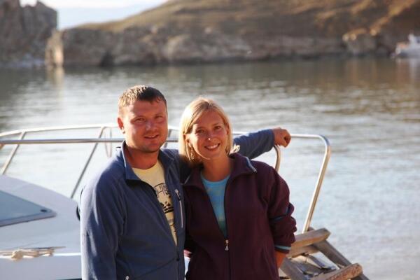 Наши кормильцы - Катя и Денис