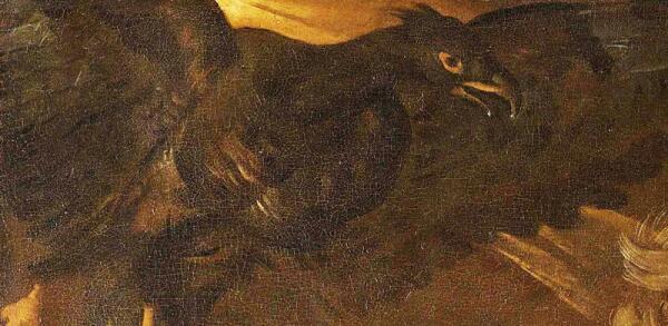 Дирк ван Бабю́рен, Вулкан приковывает Прометея к скале, фрагмент «Орел»
