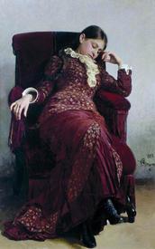 Портрет жены художника (В.А. Репина, художник Репин И.Е.)