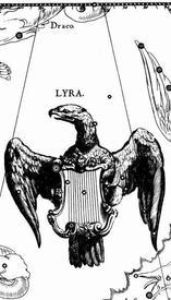 Рисунок созвездия Лира из атласа Яна Гевелия (1611–1687).