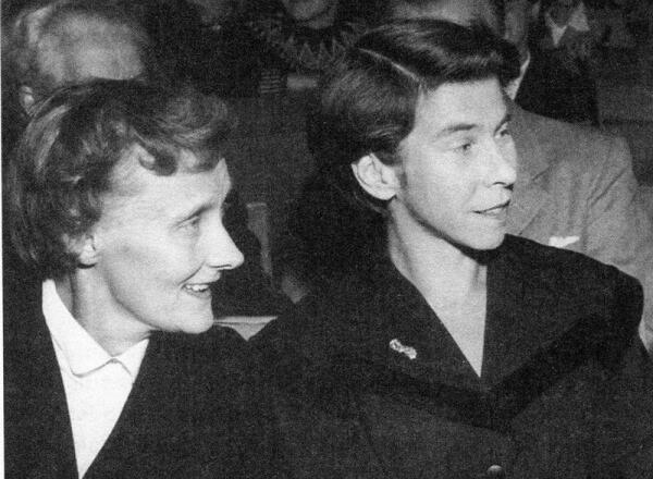 Астрид Линдгрен и Туве Янссон, Стокгольм, 1958 г.