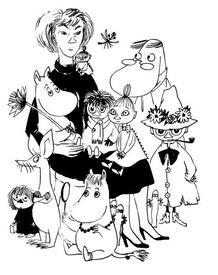 Автопортрет с муми-троллями, 1957 г.