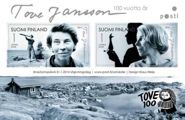 Юбилейные марки к 100-летию Туве Янссон