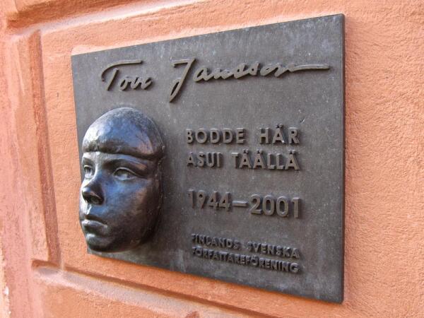 Мемориальная доска на доме-мастерской Туве Янссон