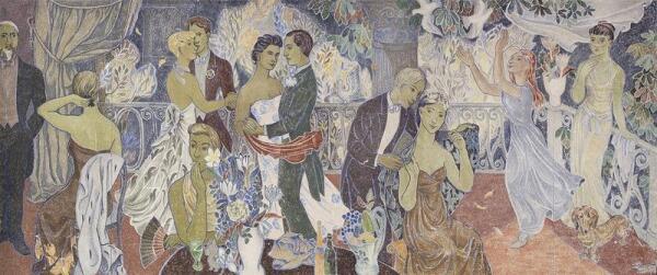 Т.Янссон. Фреска на здании мэрии г.Хельсинки, 1947 г.