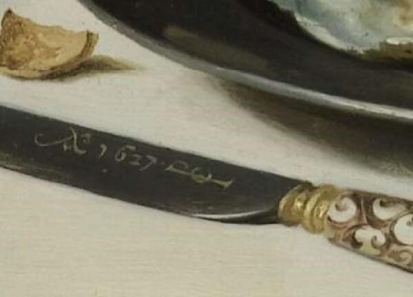 Питер Клас, Пирог с индюком, фрагмент «Автограф»