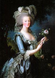 Мария-Антуанетта с розой, Элизабет Виже-Лебрен, 1783