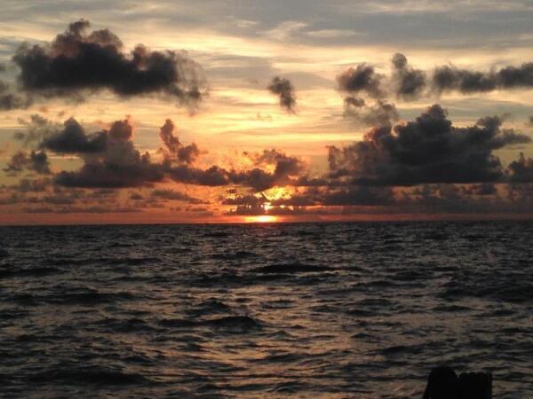 Закат в Атлантике