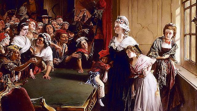 Нападение черни на Тюильри. Мария-Антуанетта защищает своих детей