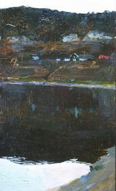 Н. Зайцева. Вечернее озеро. 2005