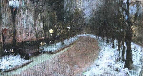 Н. Зайцева. Бульвар. Сумерки. 2009
