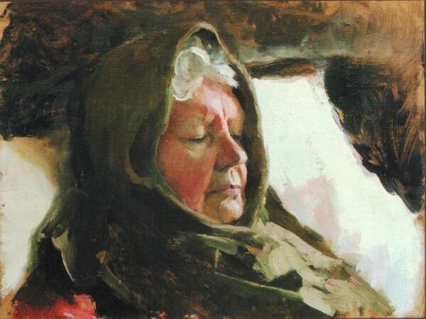 Н.Зайцева. Спящая бабушка. 2005