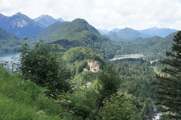 Бавария, замок Хоэншвангау в Альпах