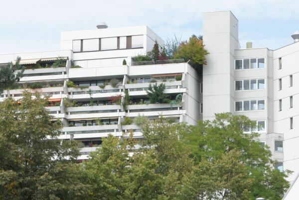 Балконы на многоэтажном доме в Мюнхене