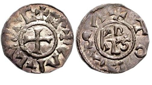 Монета эпохи Карла Великого