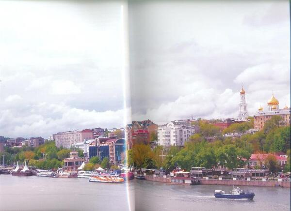 Вид на город с левого берега, где будет построен стадион к ЧМ-2018