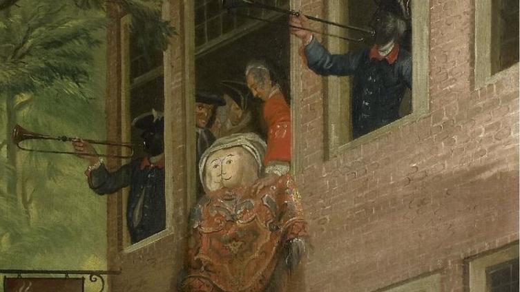 Корнелис Трост, Посол Лабберлоттена, фрагмент «Лицо посла, трубачи, свита»