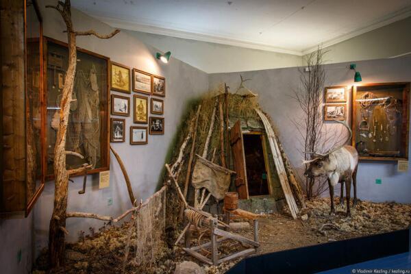 Зимнее саамское жилище — вежа