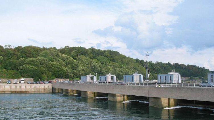 Крупнейшая в Европе приливная электростанция Ля Ранс, Франция
