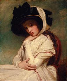 Эмма Гамильтон, портрет кисти Джорджа Ромни