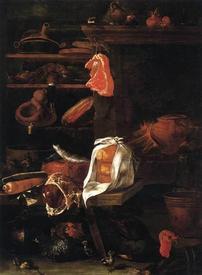 Джузеппе Рокко, Кухня, 1675, 182х129, Академия изобразительных искусств Вена Австрия