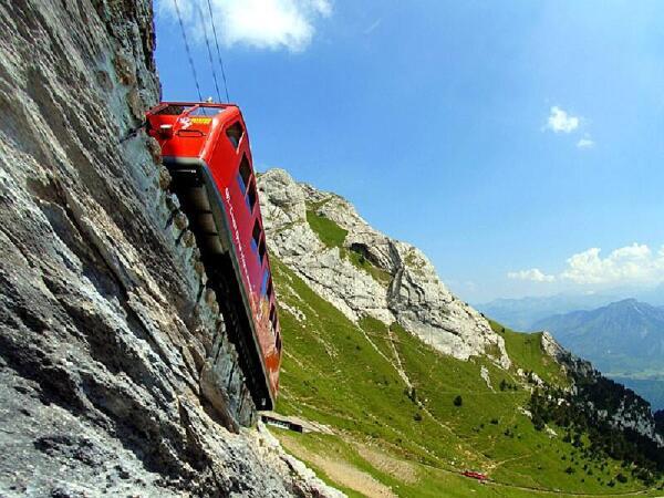 Путь на вершину горы Пилатус