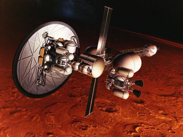 Один из проектов марсианского корабля