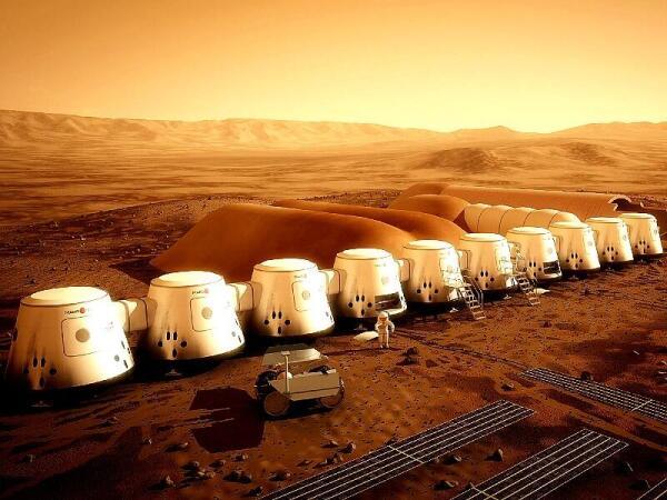 Предполагаемый вид поселения землян на Марсе