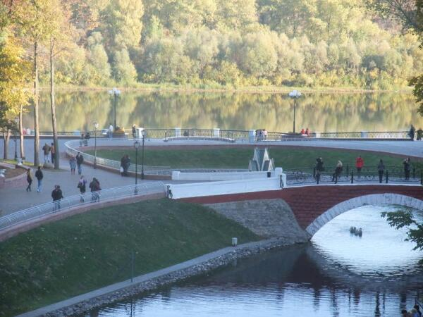 Вид на реку Сож из парка Румянцевых-Паскевичей