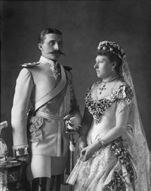 Генрих Баттенберг и Беатрис Великобританская в день свадьбы