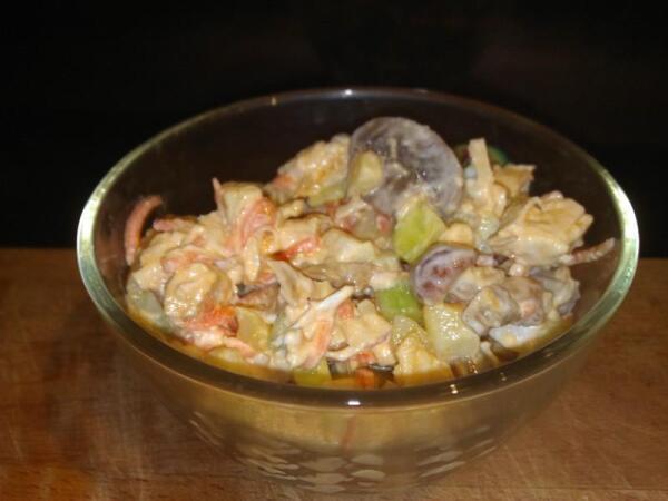 Импровизированный салат готов!