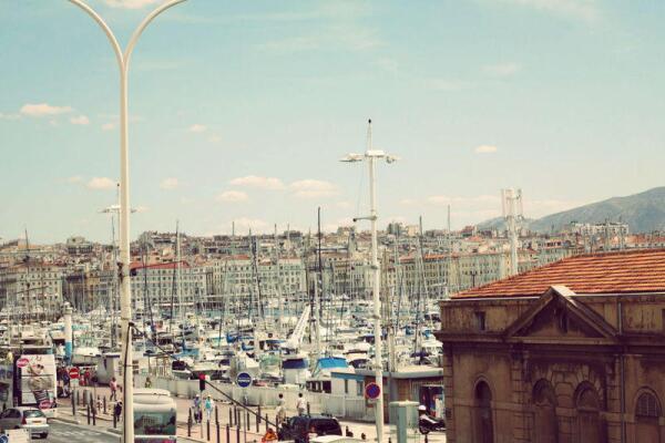 Вид на старый порт со стороны Форта Святого Иоана, Марсель