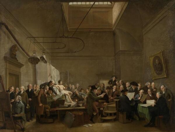 Адриан де Лели, Студия общества «Felix Meritis», 100×131 см, 1801, Rijksmuseum, Амстердам, Нидерланды