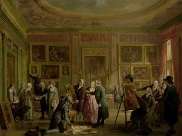 Адриан де Лели, Галерея Жозефа Агустинуса Брентано, 1790−99, 64×84 см, Rijksmuseum, Амстердам, Нидерланды